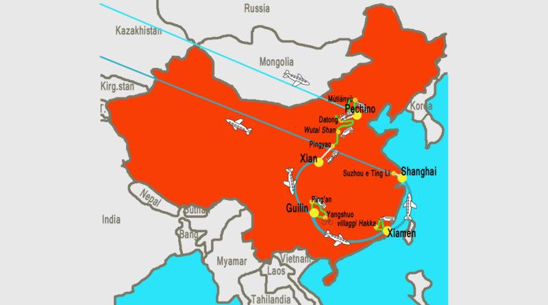 cartina Cina