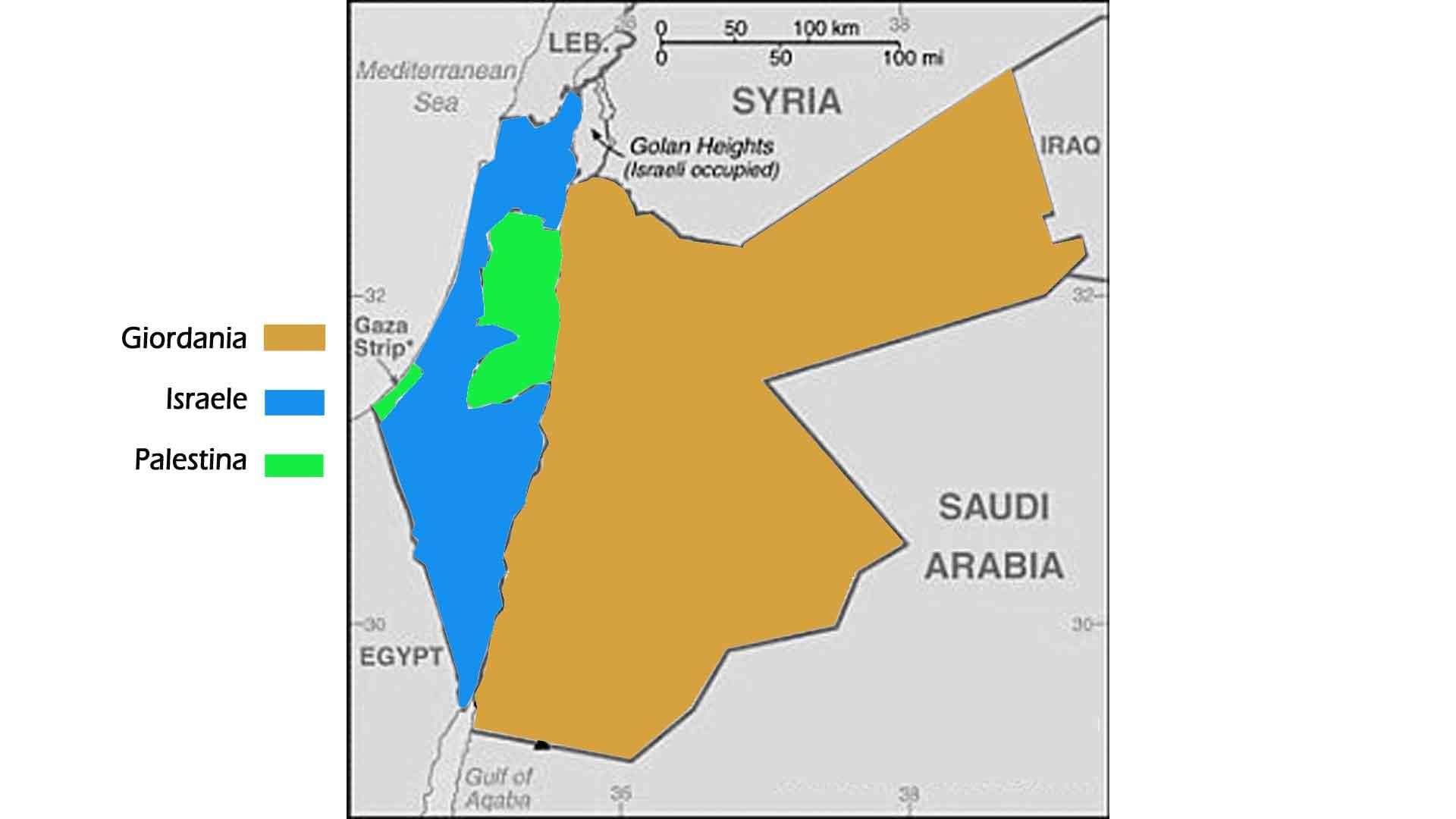 Cartina Giordania E Israele.Giordania Israele Palestina Cartina Viaggio 2019 Patrizia Fabbri
